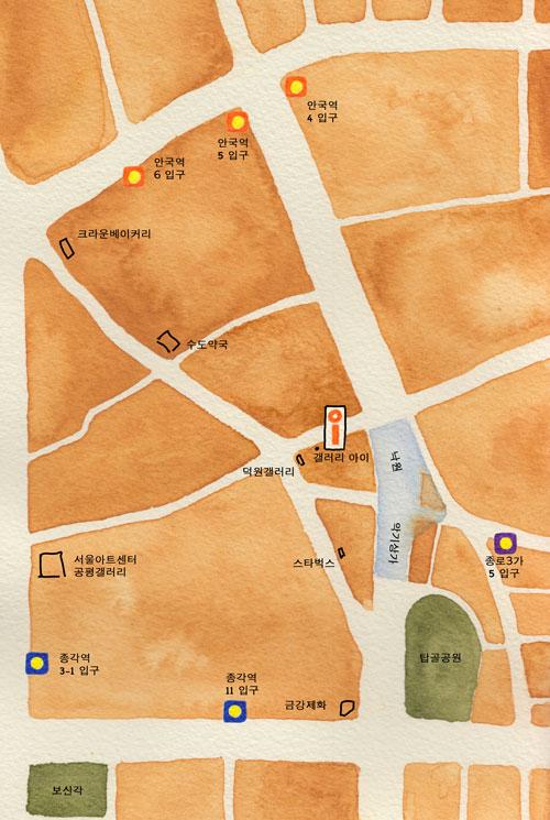isadong-map-korean