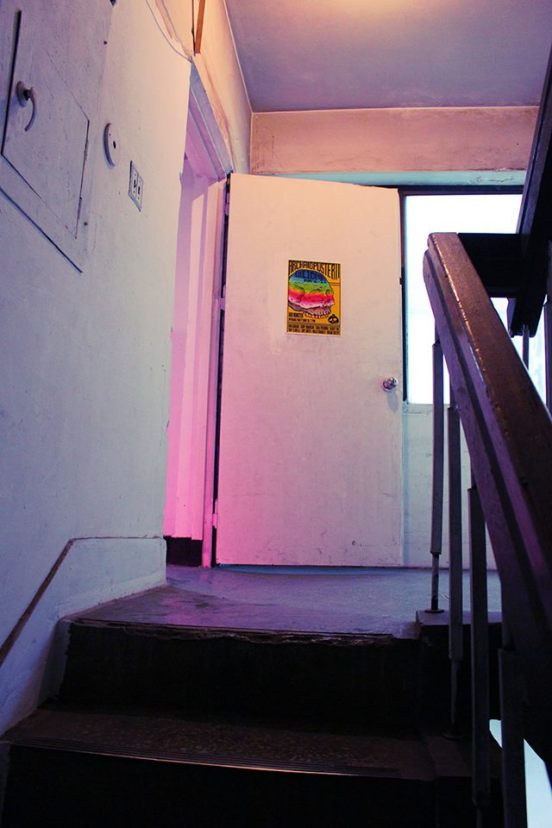 Dark stairwells give way to mysterious doors.