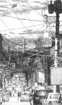 A Seoul Alley at Dusk