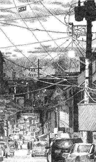 Seoul Alley at Dusk